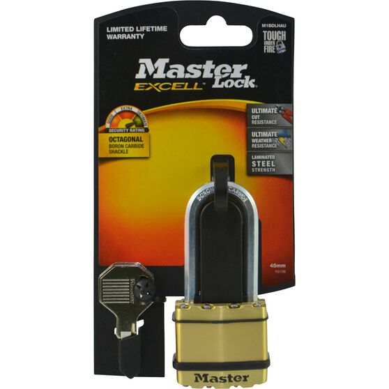 Master Lock Excell Padlock - Long Shank, 45mm, , scaau_hi-res