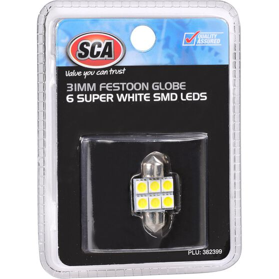 SCA Interior Globe 6 SMD LED - Super White, , scaau_hi-res