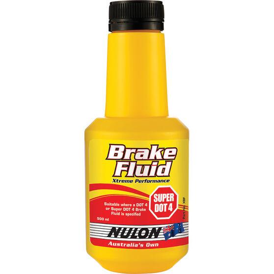 Nulon Xtreme Performance Brake Fluid Super DOT 4 500mL, , scaau_hi-res