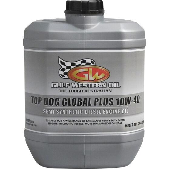 Gulf Western Top Dog Global Plus Engine Oil 10W-40 10 Litre, , scaau_hi-res