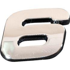 SCA 3D Chrome Badge Number 6 / 9, , scaau_hi-res