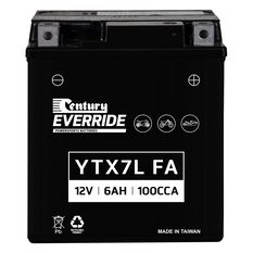 Century Powersports Small Engine Battery YTX7L-BS FA, , scaau_hi-res