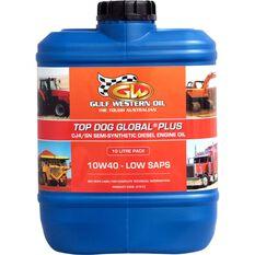 Gulf Western Top Dog Global Plus Engine Oil, 10W-40 -10 Litre, , scaau_hi-res