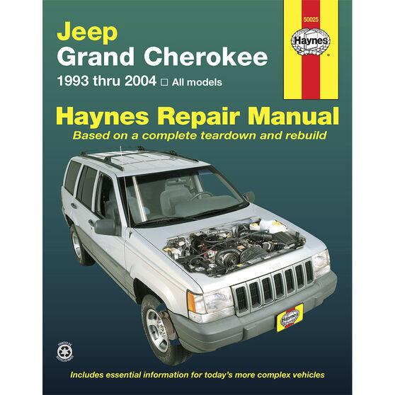 Haynes Car Manual For Jeep Grand Cherokee 1993-2004 - 50025, , scaau_hi-res