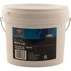 SCA Pail Bucket w /  Lid - White, 5 Litre, , scaau_hi-res