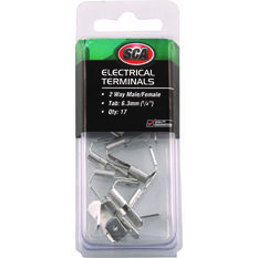 Electrical Terminals - 2 Way Male/Female, 17 Pack, , scaau_hi-res