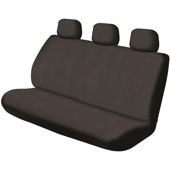 SCA Canvas Seat Cover - Black, Adjustable Headrests, Size 06H, Rear Seat, , scaau_hi-res