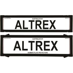 Altrex Number Plate Protector - 6 Figure, Premium, With Lines, 6NLP, , scaau_hi-res