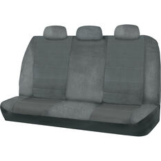 SCA Premium Jacquard & Velour Seat Covers - Charcoal Adjustable Zips Rear Seat Size 06H, , scaau_hi-res