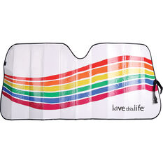 Love This Life Rainbow Wave Sunshade Fashion Accordion Front, , scaau_hi-res