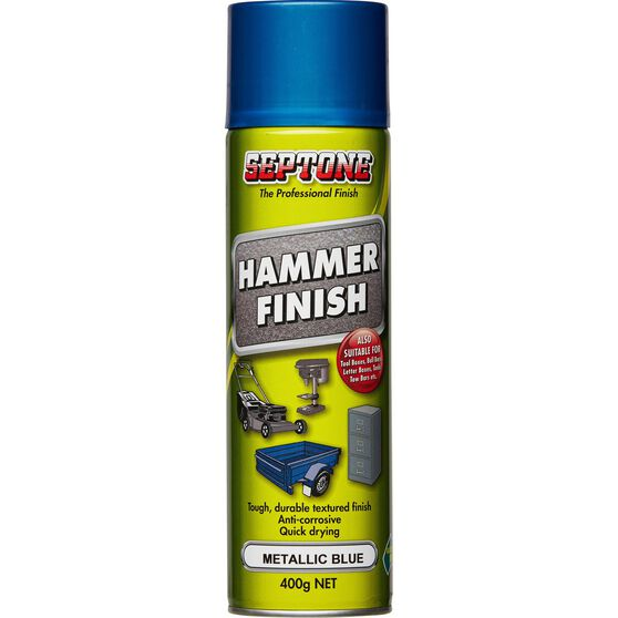 Septone Hammer Finish Paint Metallic Blue 400g, , scaau_hi-res
