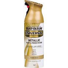 Aerosol Paint - Universal, Metallic Pure Gold, 340g, , scaau_hi-res