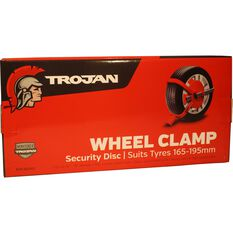 Trailer Wheel Clamp Defender Suits 165-195mm Tyres, , scaau_hi-res