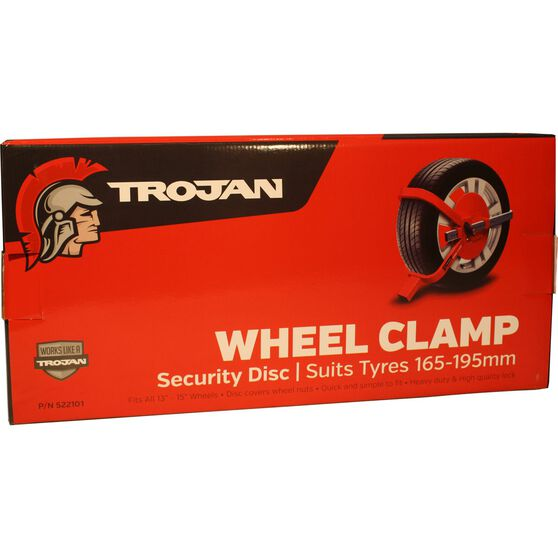 Trailer Wheel Clamp Defender - Suits 165-195mm Tyres, , scaau_hi-res