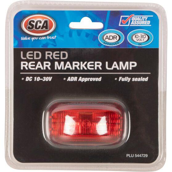 SCA Side Marker - LED, Red, 10-30V, , scaau_hi-res