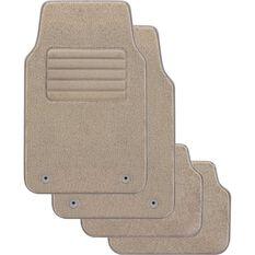 SCA Optimum Car Floor Mats - Carpet, Beige, Set of 4, , scaau_hi-res