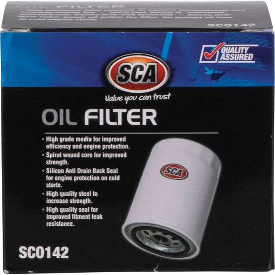 SCA Oil Filter - SCO142 (Interchangeable with Z142A), , scaau_hi-res