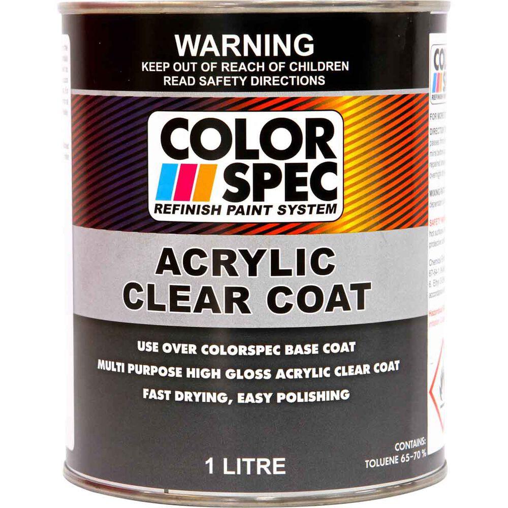 Colorspec Paint Acrylic Clear Coat 1 Litre