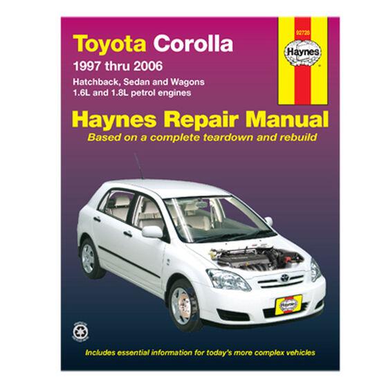 Haynes Car Manual For Toyota Corolla 1997-2006 - 92728, , scaau_hi-res