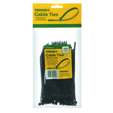 Tridon Cable Ties - 150mm x 4mm, 100 Pack, Black, , scaau_hi-res