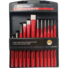 ToolPRO Punch & Chisel Set 12 Piece, , scaau_hi-res