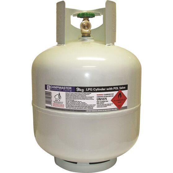 Campmaster Gas Cylinder, POL LPG - 9kg, , scaau_hi-res