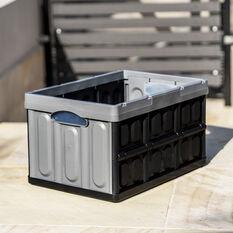 ToolPRO 45 Litre Plastic Folding Storage Box, , scaau_hi-res