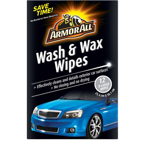 Armor All Wash and Wax Wipes - 12 pack