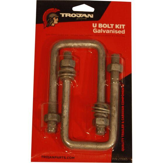 Trojan Axle U Bolt - Galvanised, 51mm x 120mm x 12mm, , scaau_hi-res
