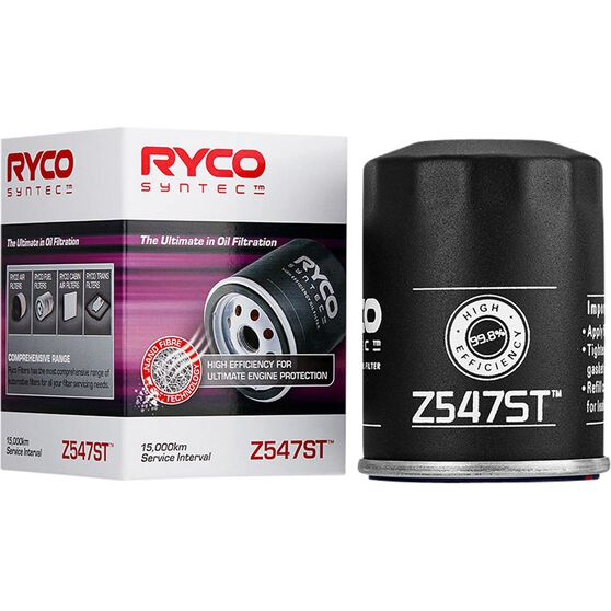 Ryco Syntec Oil Filter (Interchangeable with Z547) - Z547ST, , scaau_hi-res