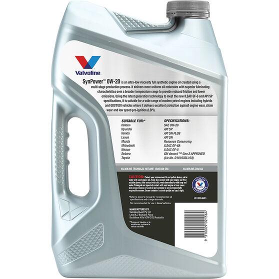 Valvoline Synpower Engine Oil 0W-20 6 Litre, , scaau_hi-res