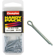 Champion Split Pins - 1.6mm X 20mm, BH178, Handy Pack, , scaau_hi-res
