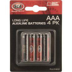 SCA Alkaline AAA Batteries - 4 Pack, , scaau_hi-res