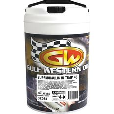 Gulf Western Superdraulic Hi Temp Hydraulic Oil ISO 46 20 Litre, , scaau_hi-res