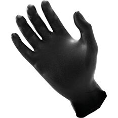 SAS Raven Nitrile Gloves - Black, Medium, 100 Pieces, , scaau_hi-res
