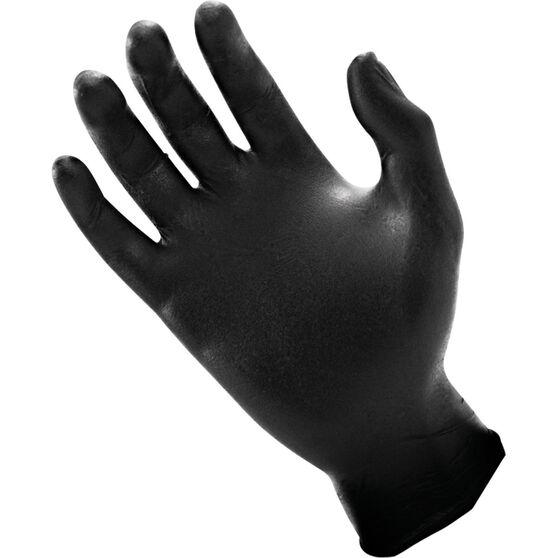 SAS Raven Nitrile Gloves - Black, Medium, 100 Pieces, , scaau_hi-res