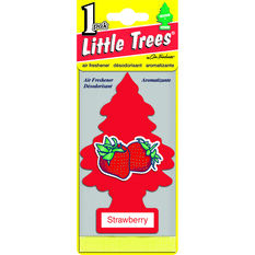 Little Trees Air Freshener - Strawberry, 1 Pack, , scaau_hi-res