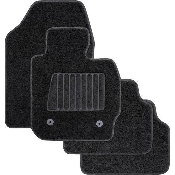 SCA Accelerator Cutout Floor Mats Carpet Black Set of 4, , scaau_hi-res