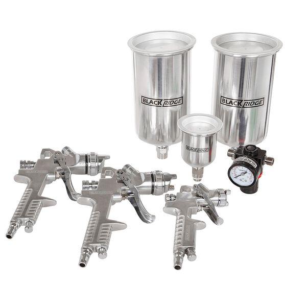 Blackridge Air Spray Gun Kit, HVLP - 4 Piece, , scaau_hi-res