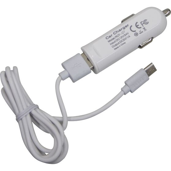 SCA Phone Charger To Suit USB Micro -  12V, 1AMP, , scaau_hi-res