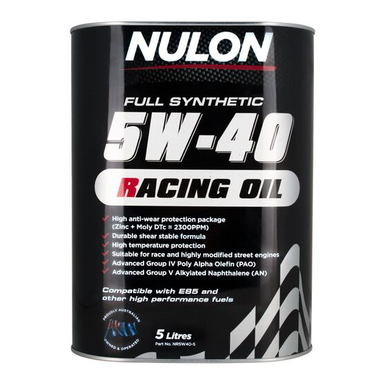 Racing Engine Oil - 5W-40, 5 Litre, , scaau_hi-res