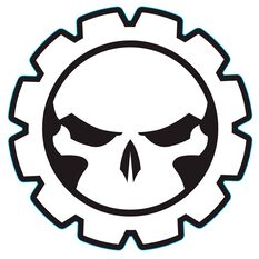 Hot Stuff Sticker - Gear Skull, Chrome, , scaau_hi-res