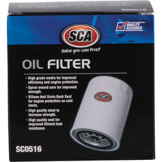 SCA Oil Filter SCO516 (Interchangeable with Z516), , scaau_hi-res
