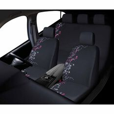 Apple Blossom Seat Cover Pack - Pink, Adjustable Headrests, Front and Rear, Airbag Compatible, , scaau_hi-res