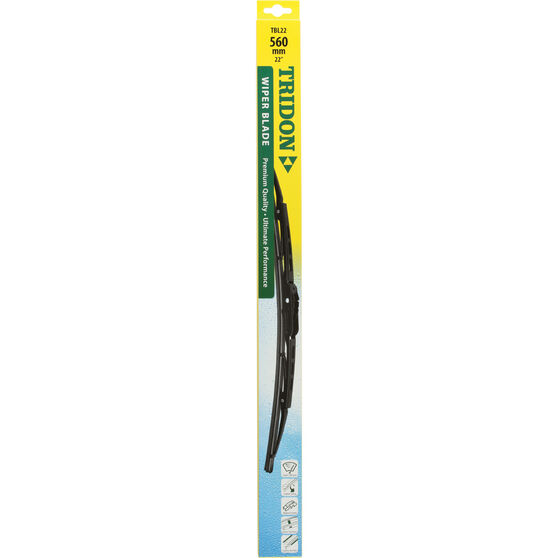 Tridon Wiper Blade - Complete, 560mm, 22in, Single, , scaau_hi-res