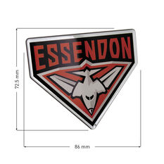 Essendon AFL Supporter Logo - Lensed Chrome Finish, , scaau_hi-res