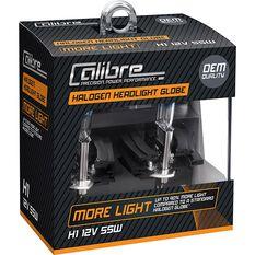 Calibre Headlight Globes Plus 90 H1 12V 55W, , scaau_hi-res