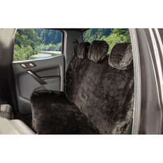 SCA Luxury Fur Seat Cover - Black, Adjustable Headrests, Size 06H, Rear Seat, , scaau_hi-res