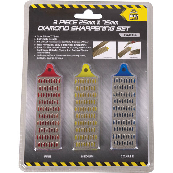 Gripwell Diamond Sharpening Set - 25 X 75mm, 3 Pieces, , scaau_hi-res