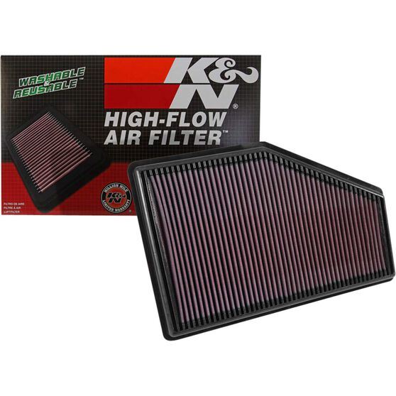 K&N Air Filter - 33-5049 (Interchangeable with A1962), , scaau_hi-res